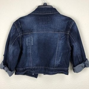 Rue 21 Jackets & Coats - Rue 21 Crop Distressed Jean Jacket Size Medium